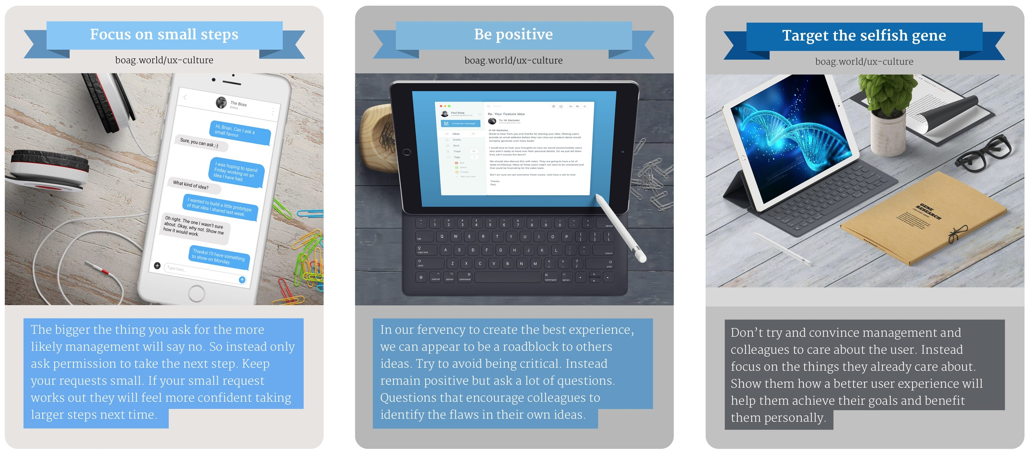 Example UX Culture Cards
