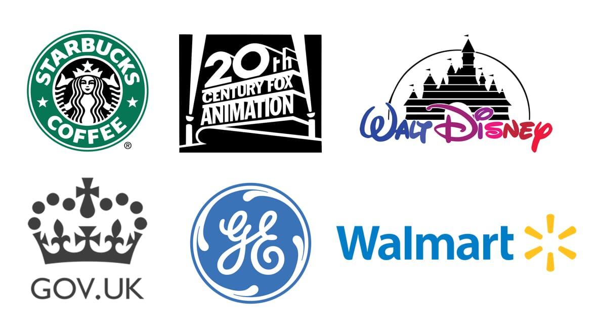 Logos of companies undertaking digital transformation